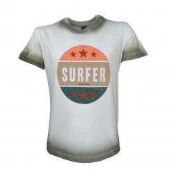 """Άσπρη μπλούζα κοντομάνικη """"Surfer"""""""
