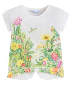 """Εκρού μπλούζα κοντομάνικη """"Φύση"""""""