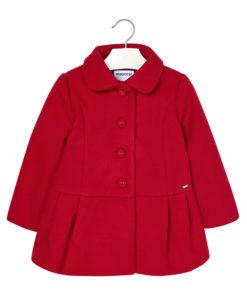 Ζακέτα - παλτό γούνινο κόκκινο με κουμπιά