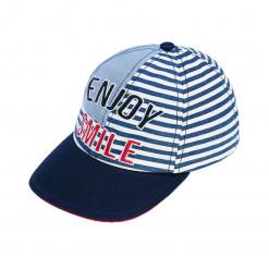 """Καπέλο γαλάζιο """"Enjoy Smile"""""""