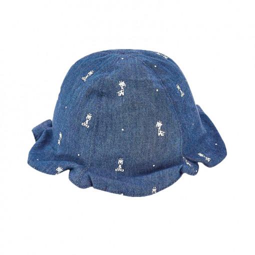 """Καπέλο διπλής όψης μπλε-λευκό """"Καμηλοπάρδαλη"""""""
