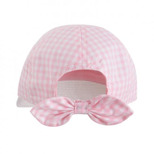 Καπέλο καρό ροζ πίσω μέρος
