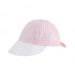 Καπέλο καρό ροζ