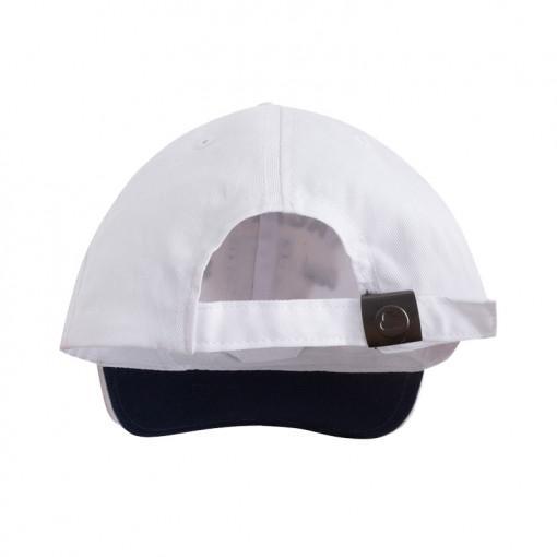 """Καπέλο λευκό """"S"""" πίσω μέρος"""