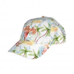 """Καπέλο λευκό """"Λουλούδια"""""""