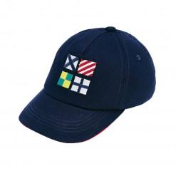 """Καπέλο μπλε """"Σημαίες"""""""