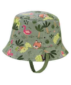 """Καπέλο πράσινο διπλής όψης """"Τίγρης"""" πίσω μέρος"""