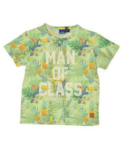 """Κοντομάνικη μπλούζα με σχέδια """"MAN OF CLASS"""""""
