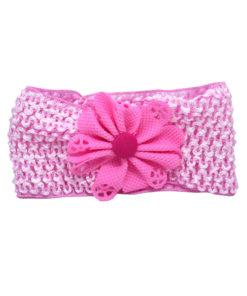 Κορδέλα μαλλιών μεγάλη διάτρητη ροζ