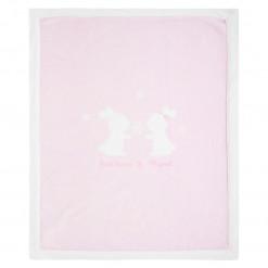 """Κουβέρτα αγκαλιάς ροζ """"Λαγουδάκια"""""""