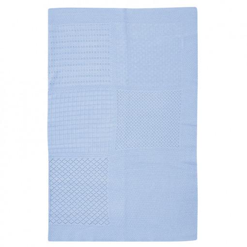 Κουβέρτα γαλάζια αγκαλιάς πλεκτή διάτρητη ανοιχτή
