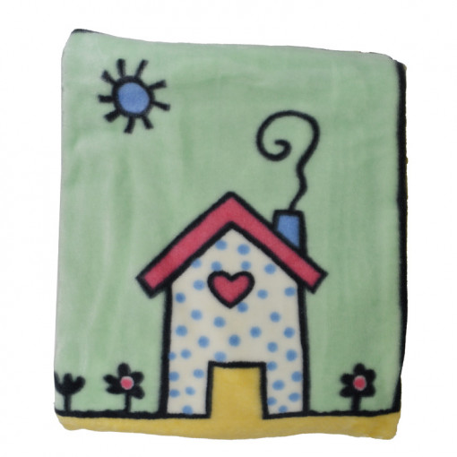 """Κουβέρτα κούνιας """"Σπίτι με Λουλούδια"""""""