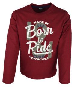 """Κόκκινη μπλούζα μακρυμάνικη """"Born To Ride"""""""