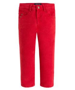 Κόκκινο παντελόνι καμπαρντίνα