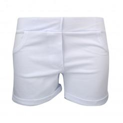 Λευκό σορτσάκι κλασικό με ψεύτικε τσέπες