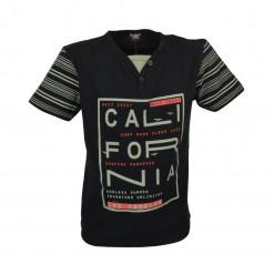 """Μαύρη μπλούζα κοντομάνικη """"California"""""""