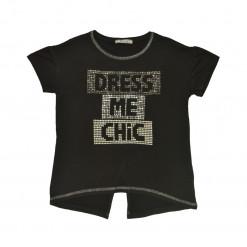 Μαύρη μπλούζα κοντομάνικη Dress Me Chic