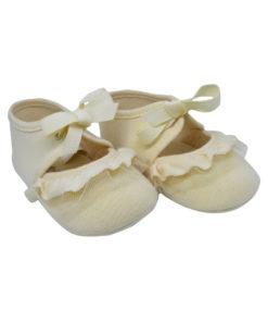 Μπεζ ζευγάρι παπούτσια αγκαλιάς μπαρέτα