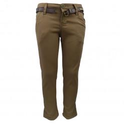 Μπεζ παντελόνι λοξότσεπο καπαρντίνα ελαστική
