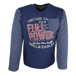"""Μπλε μπλούζα μακρυμάνικη """"Full Power"""""""