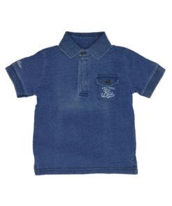 """Μπλε μπλούζα πόλο με τσέπη """"Denim Mayoral Blue"""""""
