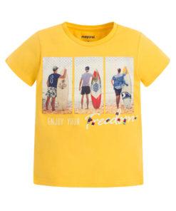 """Μπλούζα κοντομάνικη κίτρινη """"Surfers"""""""