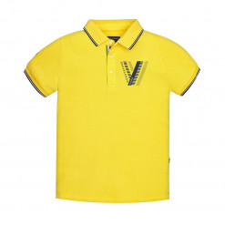 """Μπλούζα κοντομάνικη κίτρινη """"V"""""""
