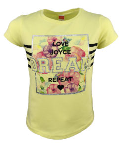 """Μπλούζα κοντομάνικη κίτρινη """"Dream"""""""
