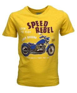 """Μπλούζα κοντομάνικη κίτρινη """"Speed Rebel"""""""