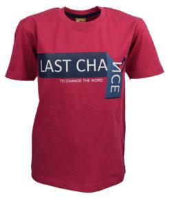 """Μπλούζα κοντομάνικη κόκκινη """"Last Chance"""""""