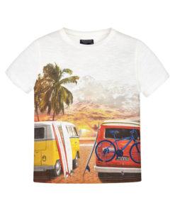 """Μπλούζα κοντομάνικη λευκή """"Van"""""""