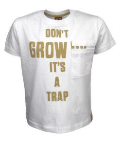 """Μπλούζα κοντομάνικη λευκή """"Dont Grow"""""""