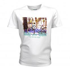 """Μπλούζα κοντομάνικη λευκή """"Ride Your Bike"""""""