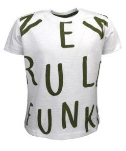 """Μπλούζα κοντομάνικη λευκή """"Rule Funk"""""""