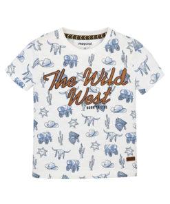 """Μπλούζα κοντομάνικη λευκή """"The Wild West"""""""