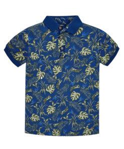 Μπλούζα κοντομάνικη μπλε με γιακά