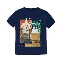 """Μπλούζα κοντομάνικη μπλε """"Big World"""""""