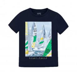 """Μπλούζα κοντομάνικη μπλε """"Boat Race"""""""