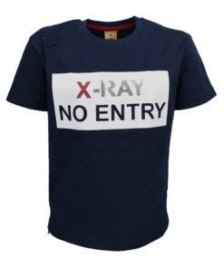 """Μπλούζα κοντομάνικη μπλε """"X - RAY"""""""