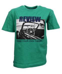 """Μπλούζα κοντομάνικη πράσινη """"Review"""""""