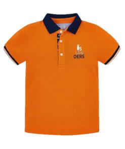 """Μπλούζα κοντομάνικη πόλο πορτοκαλί """"Vespa"""""""