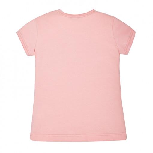 """Μπλούζα κοντομάνικη ροζ """"Chic"""" πίσω μέρος"""