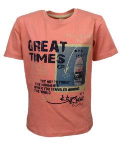 """Μπλούζα κοντομάνικη σομόν """"Great Times"""""""