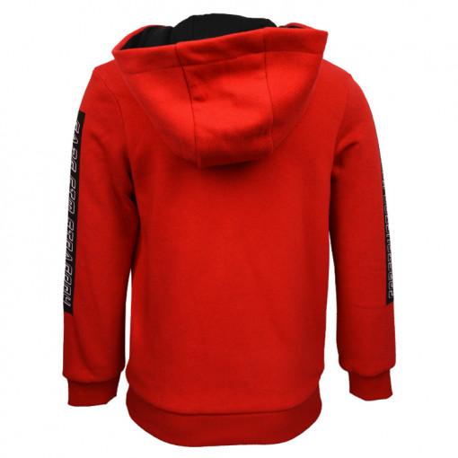 """Μπλούζα κόκκινη μακρυμάνικη φούτερ Core """"1975"""" πίσω μέρος"""