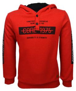 """Μπλούζα κόκκινη μακρυμάνικη φούτερ Core """"1975"""""""