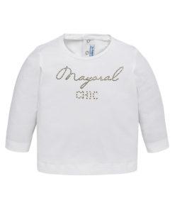 """Μπλούζα λευκή μακρυμάνικη """"Mayoral Chic"""""""