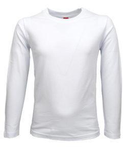 Μπλούζα μακρυμάνικη απλή λευκή