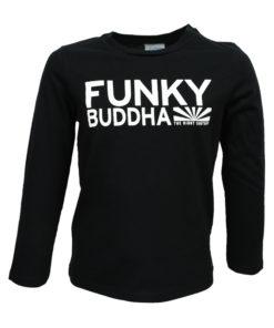 """Μπλούζα μακρυμάνικη μαύρη """"Funky Buddha"""""""