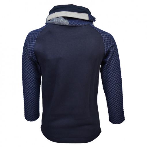 """Μπλούζα μακρυμάνικη σκούρη μπλε με φαρδύ γιακά """"Gang"""" πίσω μέρος"""