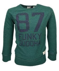 """Μπλούζα πράσινη μακρυμάνικη """"87 Funky Buddha"""""""